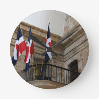 dominican flag round clock