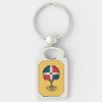 Dominican Flag Tree of Life Customizable Keychain