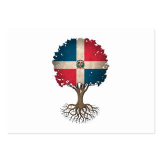 Dominican Flag Tree of Life Customizable Large Business Card