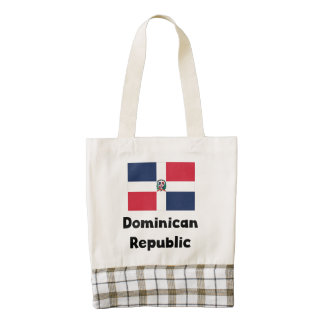 Dominican Flag Zazzle HEART Tote Bag
