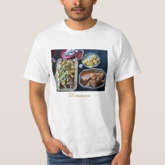 Dominican Food served on the Beach T-Shirt