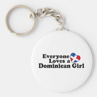 Dominican Girl Keychain
