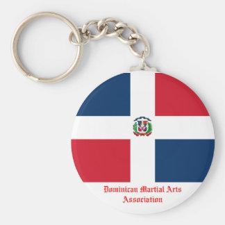 Dominican Martial Arts Association Basic Round Button Keychain