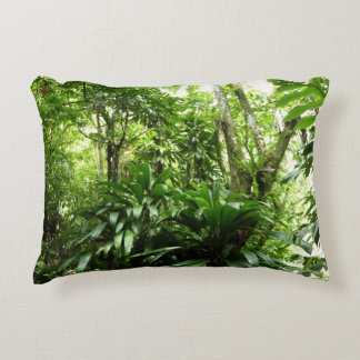 Dominican Rain Forest I Tropical Green Nature Accent Pillow