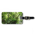 Dominican Rain Forest I Tropical Green Nature Bag Tag