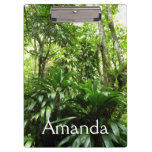 Dominican Rain Forest I Tropical Green Nature Clipboard