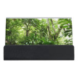 Dominican Rain Forest I Tropical Green Nature Desk Business Card Holder