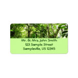 Dominican Rain Forest I Tropical Green Nature Label