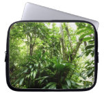 Dominican Rain Forest I Tropical Green Nature Laptop Sleeve