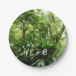 Dominican Rain Forest I Tropical Green Nature Paper Plate