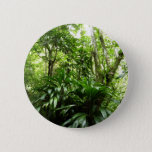Dominican Rain Forest I Tropical Green Nature Pinback Button