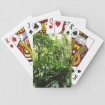 Dominican Rain Forest I Tropical Green Nature Playing Cards