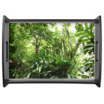 Dominican Rain Forest I Tropical Green Nature Serving Tray