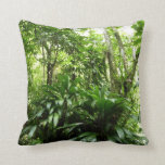 Dominican Rain Forest I Tropical Green Nature Throw Pillow
