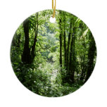 Dominican Rain Forest II Tropical Green Ceramic Ornament