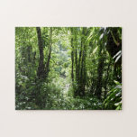 Dominican Rain Forest II Tropical Green Jigsaw Puzzle
