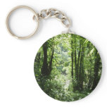 Dominican Rain Forest II Tropical Green Keychain