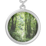Dominican Rain Forest II Tropical Green Silver Plated Necklace