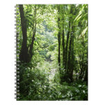 Dominican Rain Forest II Tropical Green Spiral Notebook