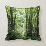 Dominican Rain Forest II Tropical Green Throw Pillow