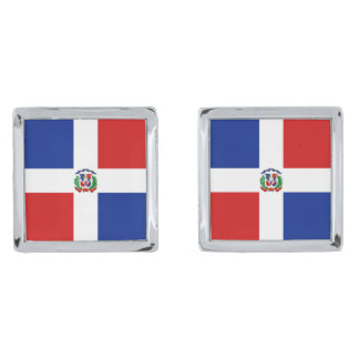 Dominican Rep. Flag Cufflinks