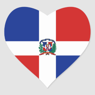 Dominican Rep. Flag Heart Sticker