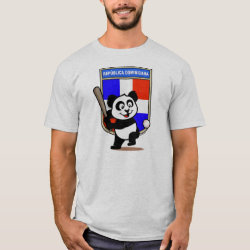 Men's Basic T-Shirt with Dominican Republic Baseball Panda design