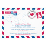 Dominican Republic Air Mail Post Wedding Reception Personalized Invites
