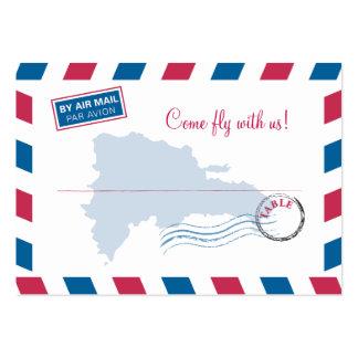 Dominican Republic Air Mail Wedding Seating Card