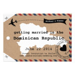 Dominican Republic Airmail Luggage Tag Save Date Invitations