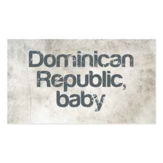 Dominican Republic Baby Business Cards