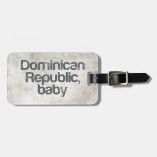 Dominican Republic Baby Tag For Luggage