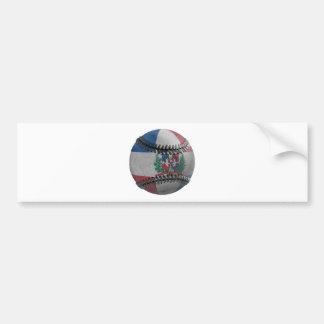 Dominican Republic Baseball Bumper Sticker