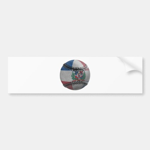 Dominican Republic Baseball Bumper Sticker