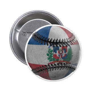 Dominican Republic Baseball Button