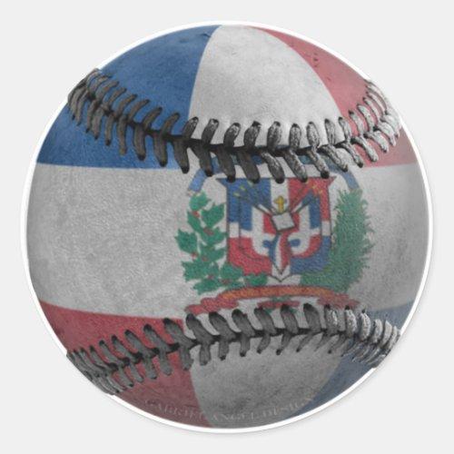 Dominican Republic Baseball Classic Round Sticker