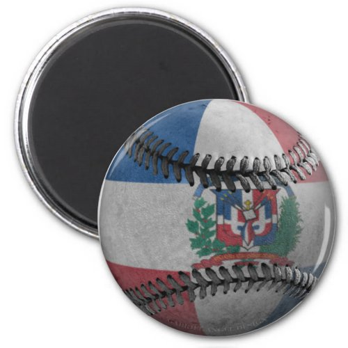 Dominican Republic Baseball Magnet