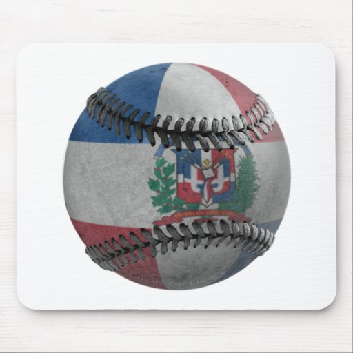 Dominican Republic Baseball Mousepad