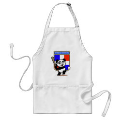 Apron with Dominican Republic Baseball Panda design