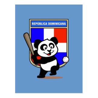 Dominican Republic Baseball Panda Postcard