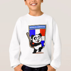 Kids' American Apparel Organic T-Shirt with Dominican Republic Baseball Panda design