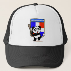 Trucker Hat with Dominican Republic Baseball Panda design