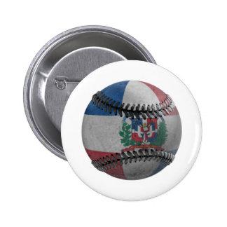 Dominican Republic Baseball Pinback Button