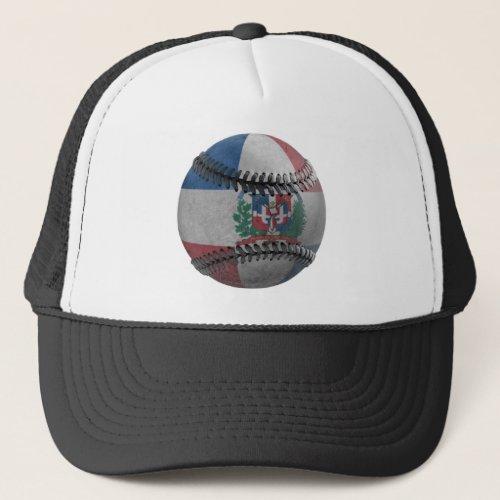 Dominican Republic Baseball Trucker Hat