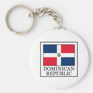 Dominican Republic Basic Round Button Keychain