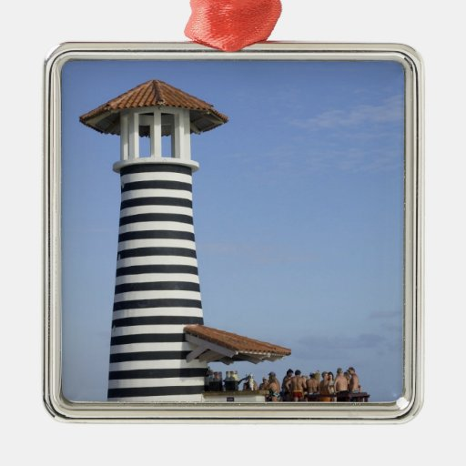 Dominican Republic, Bayahibe, Iberostar Hacienda 2 Square Metal Christmas Ornament