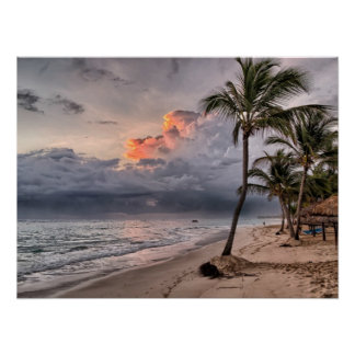 Dominican Republic beach, beautiful landscape Poster