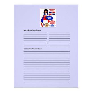 Dominican Republic blank meat recipe cards