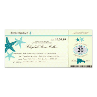 Dominican Republic Bridal Shower Boarding Pass Card