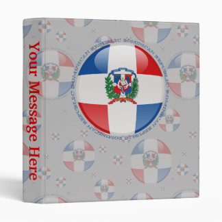 Dominican Republic Bubble Flag 3 Ring Binder
